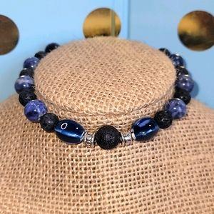 Lapis Blues Aromatherapy Bracelet